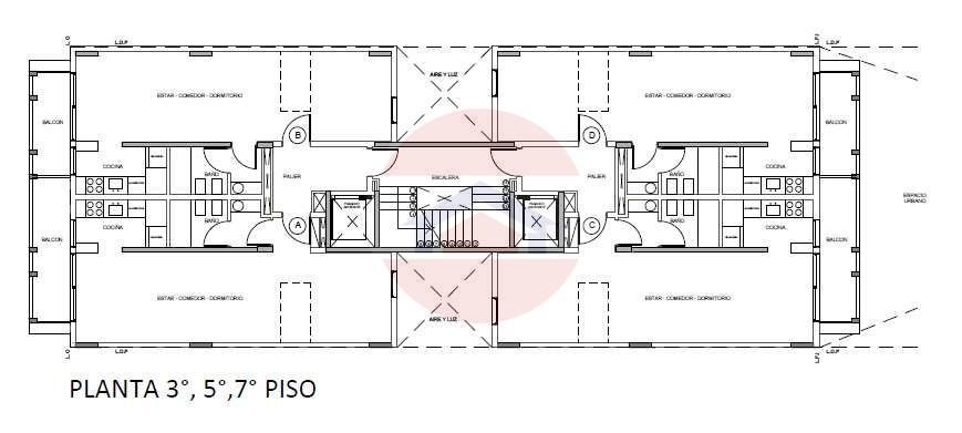 Plano pisos 3-5-7