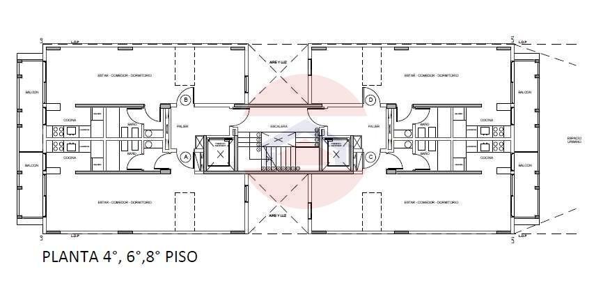 Plano pisos 4-6-8