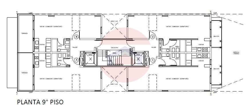Plano 9no piso