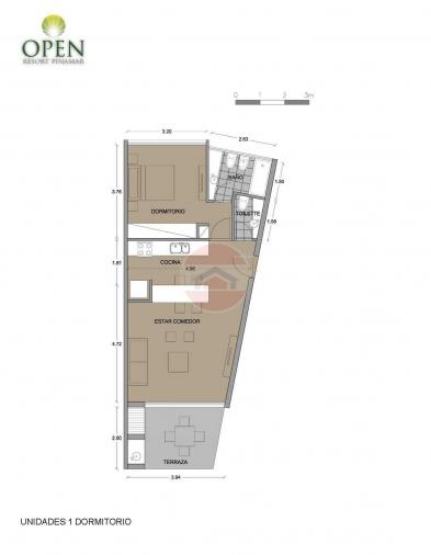 Planos unidades de 1 dormitorio