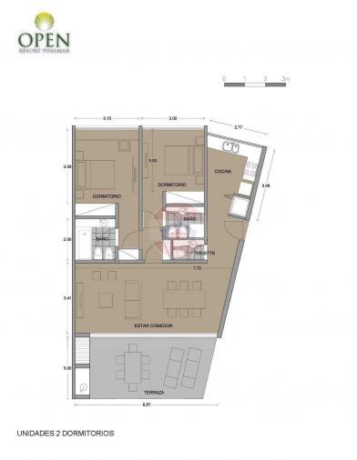 Planos unidades de 2 dormitorios