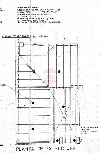Plano de estructura y de techos
