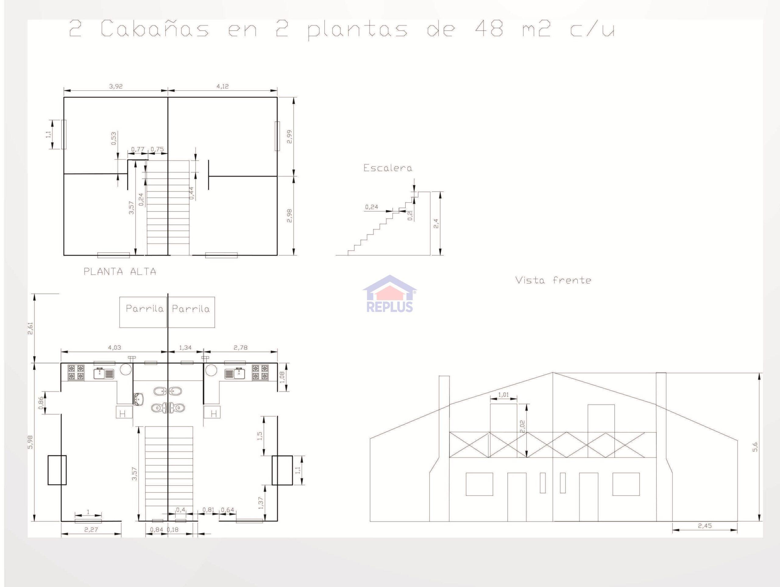 Planos de Cabañas Altos del Cerro