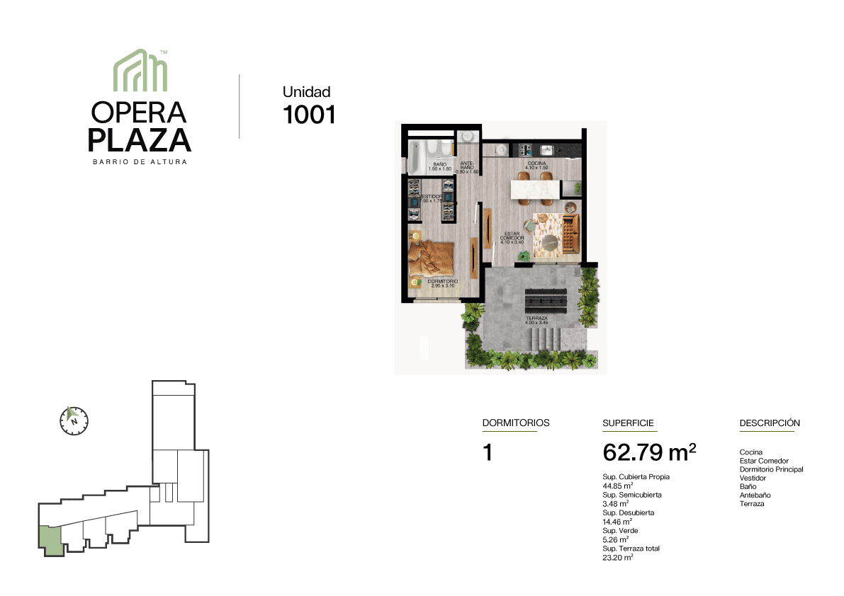Opera Plaza Torre 1, Piso PB, Unidad 1