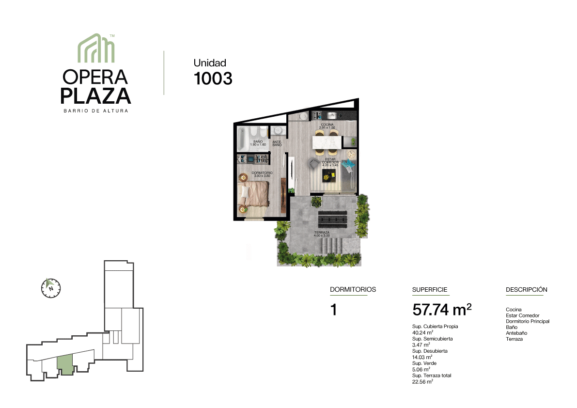 Opera Plaza Torre 1, Piso PB, Unidad 3