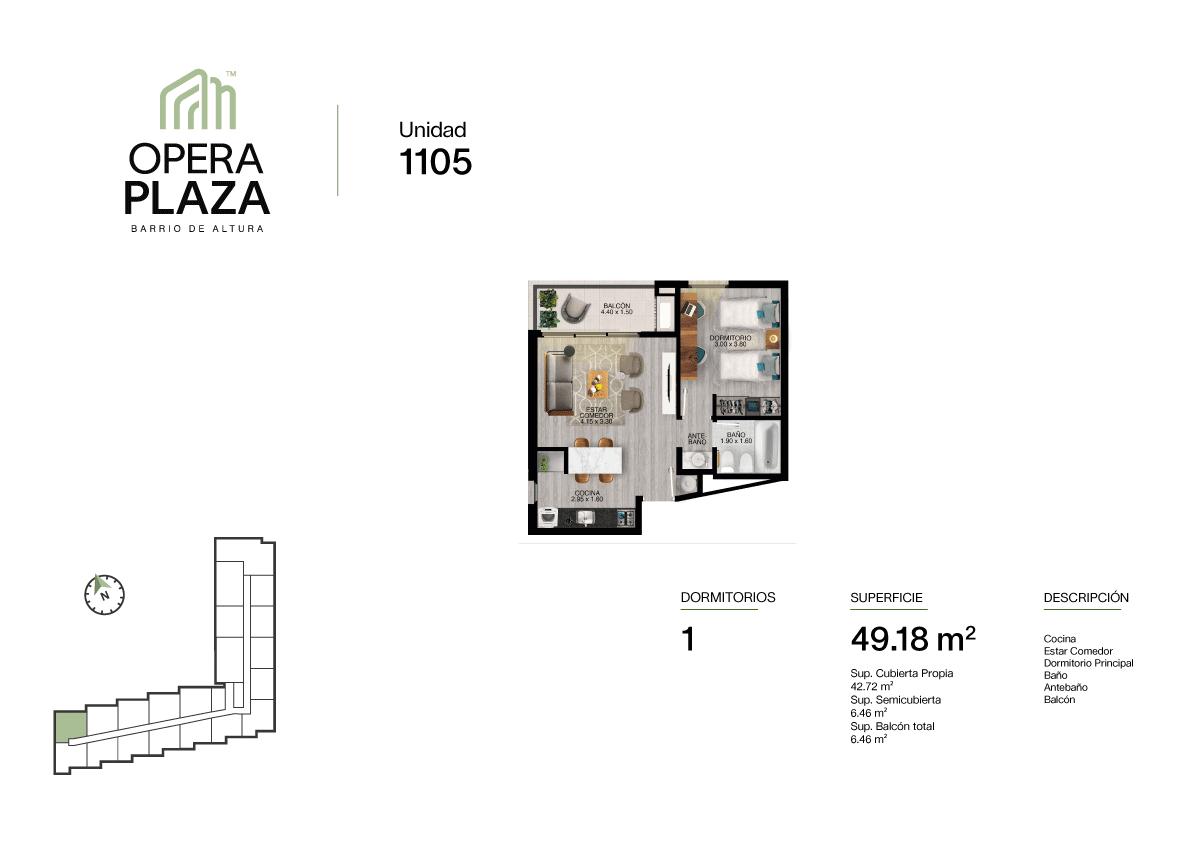 Opera Plaza Torre 1, Piso 1, Unidad 5