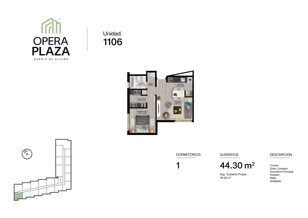 Opera Plaza Torre 1, Piso 1, Unidad 6