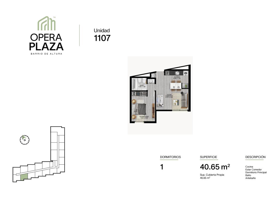 Opera Plaza Torre 1, Piso 1, Unidad 7