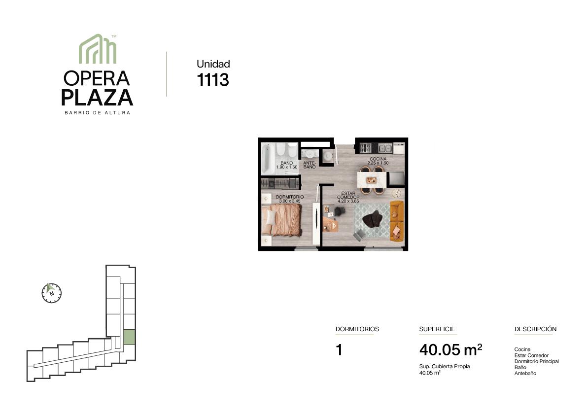 Opera Plaza Torre 1, Piso 1, Unidad 13