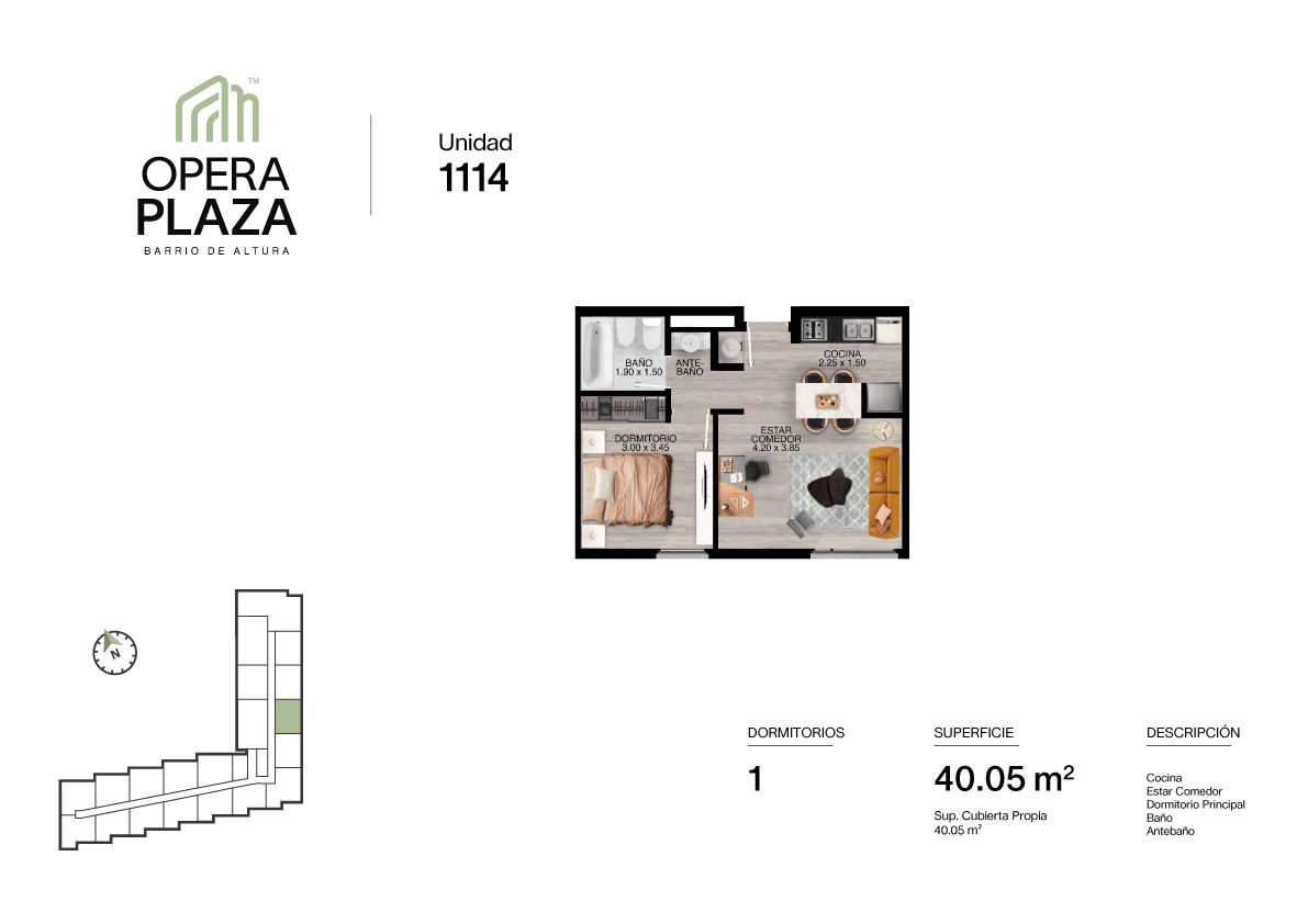 Opera Plaza Torre 1, Piso 1, Unidad 14