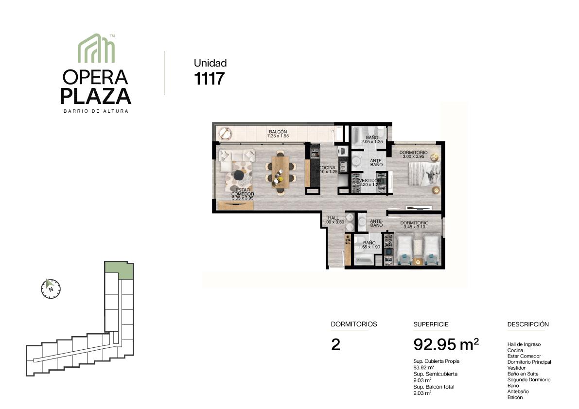 Opera Plaza Torre 1, Piso 1, Unidad 17